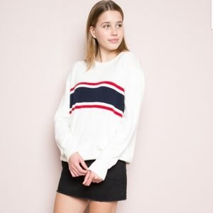 Brandy Melville Jayden sweater white stripe